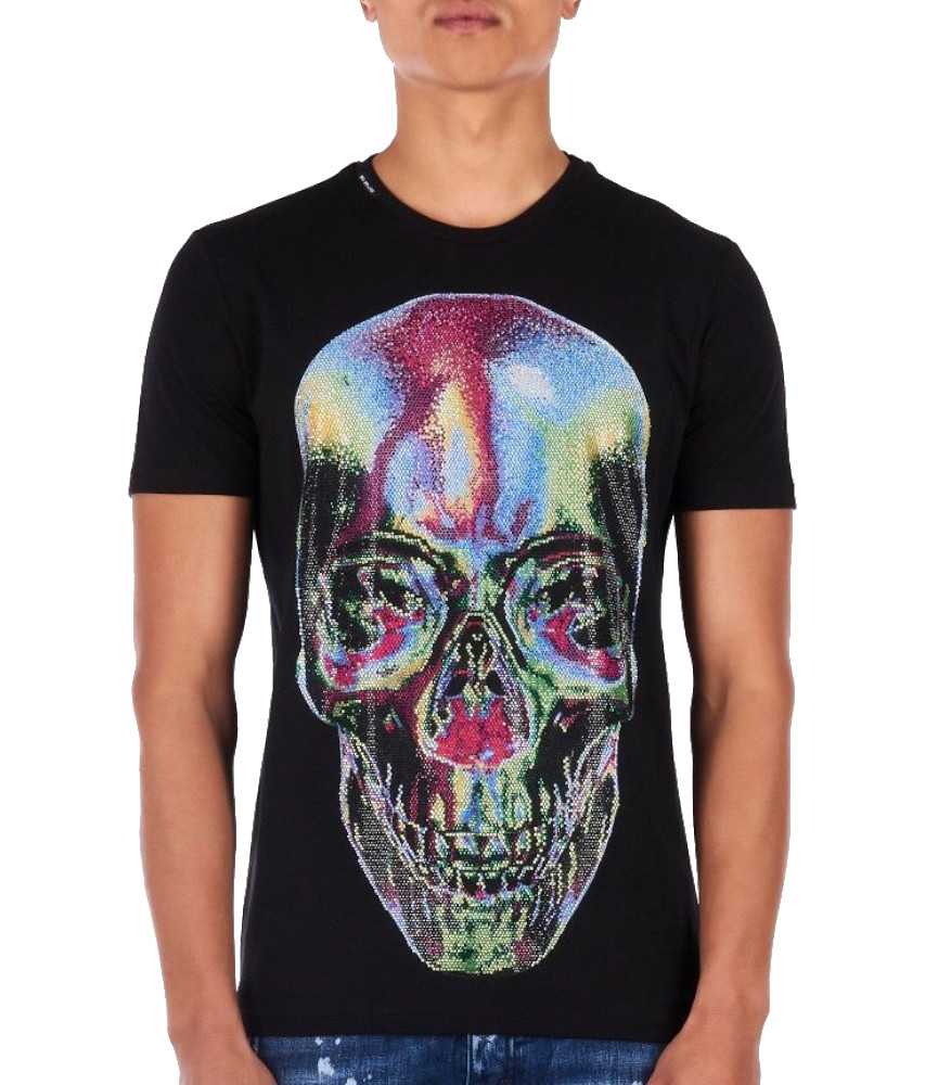 Tshirt strass My Brand noir MMB-TS010-GM008 NOIR