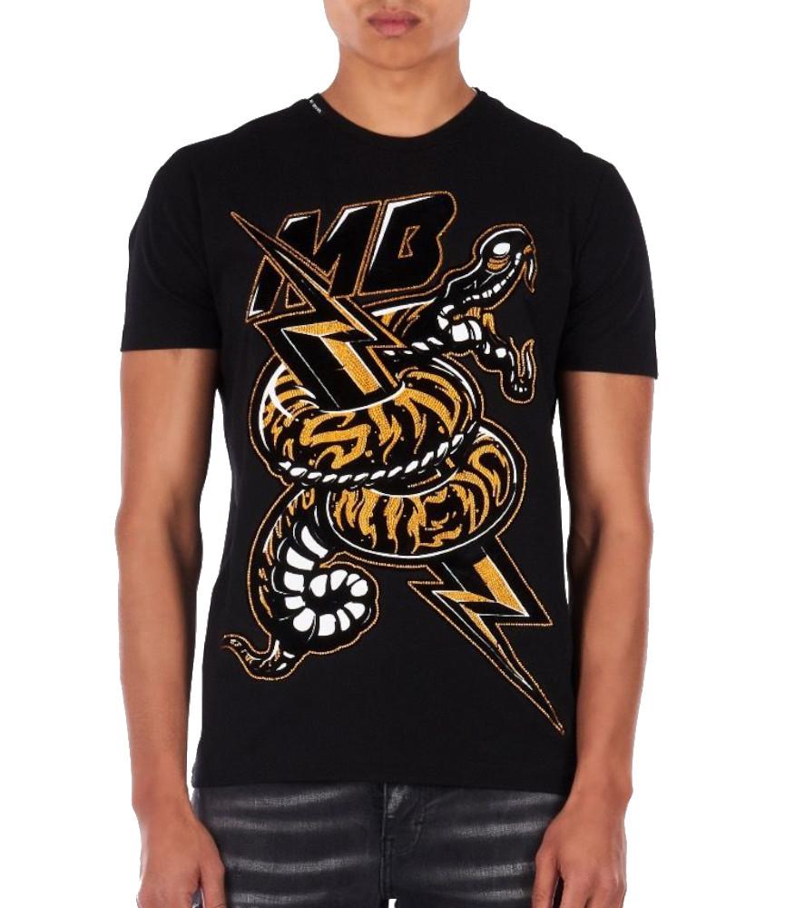 Tshirt strass My Brand noir MMB-TS032-GM032