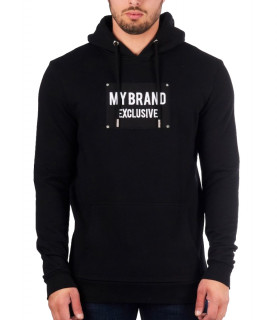 Sweat à capuche My Brand noir - MMB-HO009-GM025