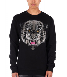 Sweat strassé My Brand noir - MMB-SW012-GM041