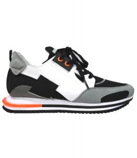 Sneakers Bikkembergs noir-blanc-gris clair - B4BKM0052 Slip On