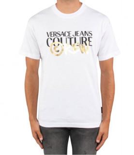 Tshirt VERSACE JEANS COUTURE CREW - B3GUB7G1 blanc