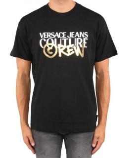 Tshirt VERSACE JEANS COUTURE CREW - B3GUB7G1 noir