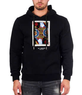 Sweat à capuche My brand noir - PLAYING CARD HOODIE