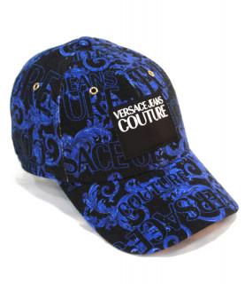 Casquette Versace Jeans Couture bleu - MID VISOR BAROQUE