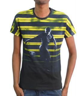 Tshirt BIKKEMBERGS marine jaune - CZ1260158