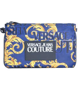 Petite pochette Versace Jeans Couture - E3YVBP20 BLEU - LINEA PRINT DIS. 4