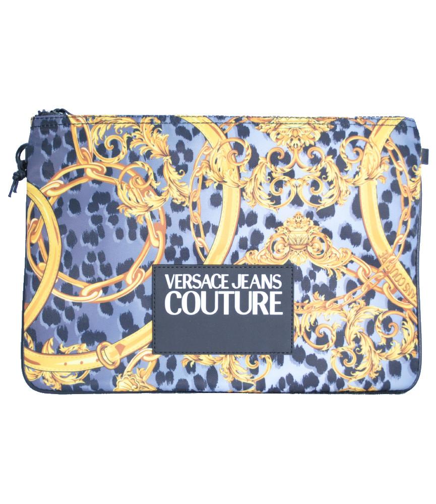 Grande pochette Versace Jeans Couture - E3YVBP21 GRIS - LINEA PRINT DIS. 4