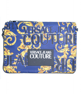 Grande pochette Versace Jeans Couture - E3YVBP21 BLEU- LINEA PRINT DIS. 4