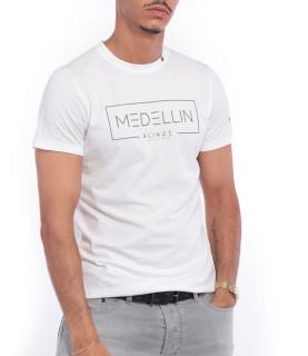 Tshirt Blindé - MEDELLIN BLANC lingot d'or 18 carats