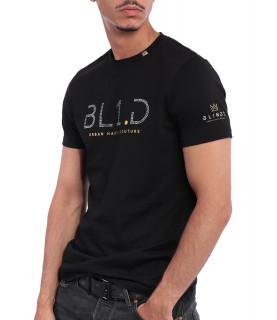 Tshirt Blindé - CRYSTAL NOIR lingot d'or 18 carats
