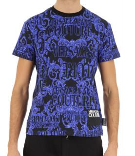 Tshirt Versace Jeans Couture bleu - B3GUB7S1
