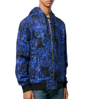 Sweat encapuchonné Versace Jeans Couture bleu - B7GUB7FFSH600