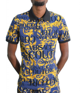Polo Versace Jeans Collection bleu- B3GVA7PA