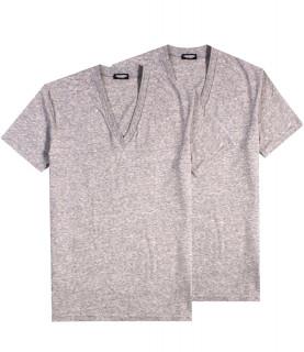 Tshirt Dsquared2 gris pack de 2