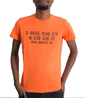 Tshirt Diesel orange - DIEGO S2 - 00SEG9 0091A
