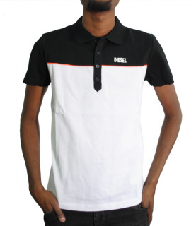 Polo Diesel manches courtes - T RALFY BIC BLANC/NOIR