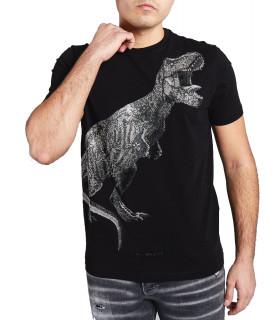 Tshirt My Brand strass - T-REX STONES noir