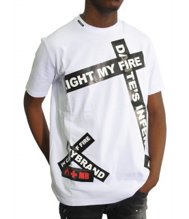 Tshirt My Brand - FIRE TAPE blanc