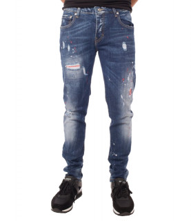 Jeans My Brand Bleu - Neon orange Studded Washed Jeans