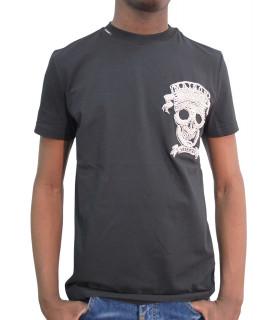 Tshirt My brand - MAISON SKULL CHEST noir