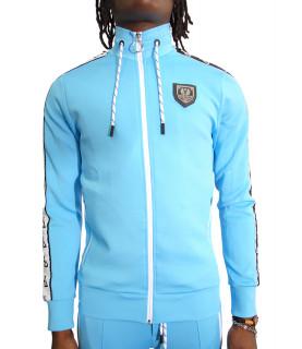 Sweat zippé Horspist - BAXTER M304 turquoise