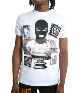 Tshirt My Brand blanc - BAD GUY MASKED