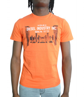 T shirt Diesel orange - DIEGO S13