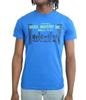 T shirt Diesel bleu - DIEGO S13