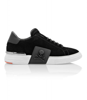 Sneakers Philipp Plein noir - PHANTOM KICK$ LO-TOP SUEDE