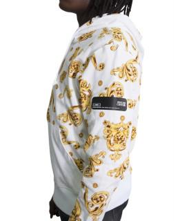 Sweat zippé Versace Jeans Couture blanc - B7GVB7F1