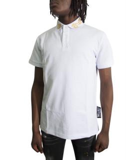Polo Versace Jeans Couture blanc - B3GVB7P6-VUM622 BAROQUE REGULAR
