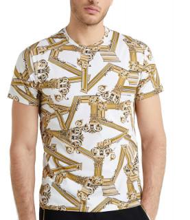 T-Shirt VERSACE JEANS Blanc réf: B3GTB7R0