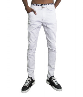 Jeans Philipp Plein blanc - P20C MDT 2167 DREAM ON