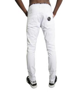 Jeans Philipp Plein blanc - P20C MDT 2167 DREAM ON