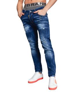 Jeans My Brand bleu - BLUE FADE YELLOW SPOT JEANS
