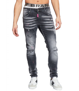Jeans My brand gris - GREY FADED PINK SPOT JEANS