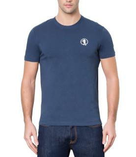 T-shirt bleu bikkemberg basic avec logo soccer réf - C7001D9E1823Y91