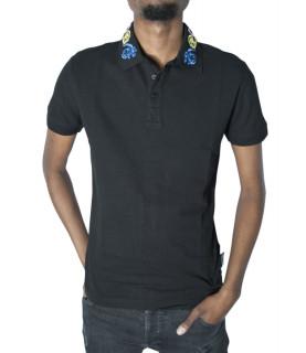 Polo Versace Jeans Couture noir - B3GVB7PB VUM621 BAROQUE SLIM