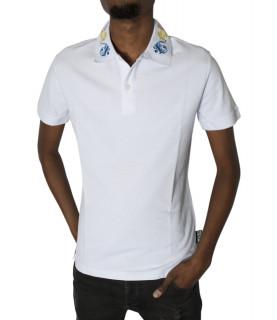 Polo Versace Jeans Couture blanc - B3GVB7PB VUM621 BAROQUE SLIM
