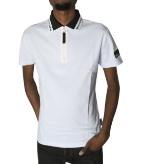 Polo Versace Jeans Couture blanc - B3GVB7P4 VUM624 LOGO SLIM