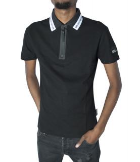 Polo Versace Jeans Couture noir - B3GVB7P4 VUM624 LOGO SLIM