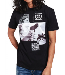 Tshirt My Brand noir - BAD GUY GUN