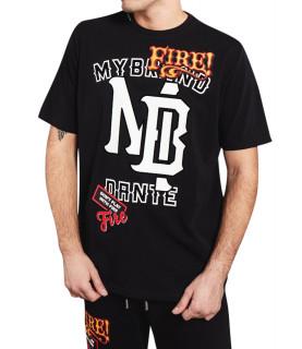 Tshirt My brand Fire noir - DANTE MB