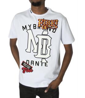 Tshirt My brand Fire blanc - DANTE MB