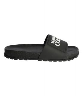 Sandales Versace Jeans Couture noires - Linea Fondo Slide