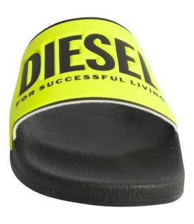 Claquettes Diesel jaune fluo noir - Sa-Valla Y01920