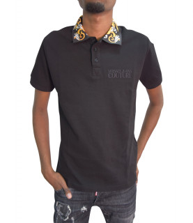 Polo Versace Jeans Couture noir - B3GZA74T - POLO ZUP621 SLIM BAROQUE