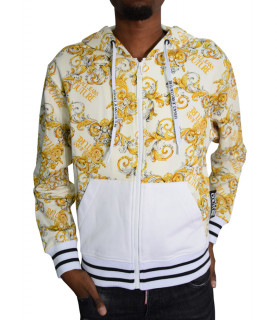 Sweat zippé Versace Jeans Couture blanc - B3GZA701 - ZUP301co PRINT ALLOVER