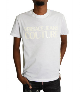 Tshirt Versace Jeans Couture blanc - B3GZA7S0 - ZUP600 slim cont PRINT LOGO